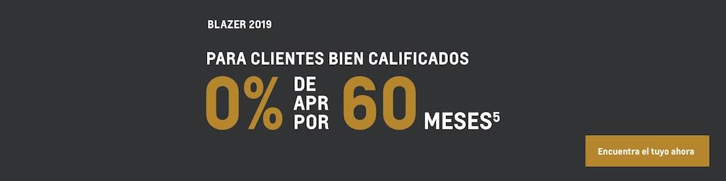 Blazer 2019: 0% APR por 60 meses