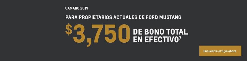 Camaro 2019: $3,750 Bono en efectivo