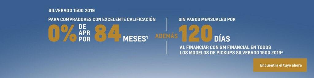 Silverado 2019: 0% de APR por 84 meses + pago diferido por 120 días