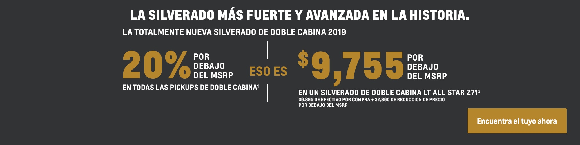 La totalmente nueva Silverado: 20% por debajo del MSRP