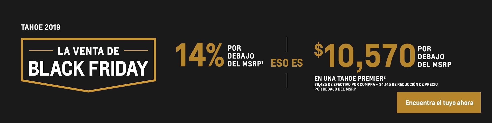 Tahoe 2019: 14% por debajo del MSRP