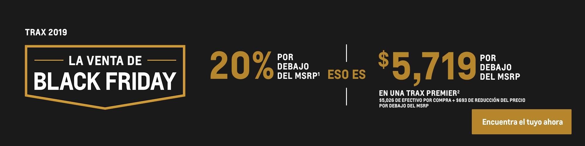 Trax 2019: 20% por debajo del MSRP