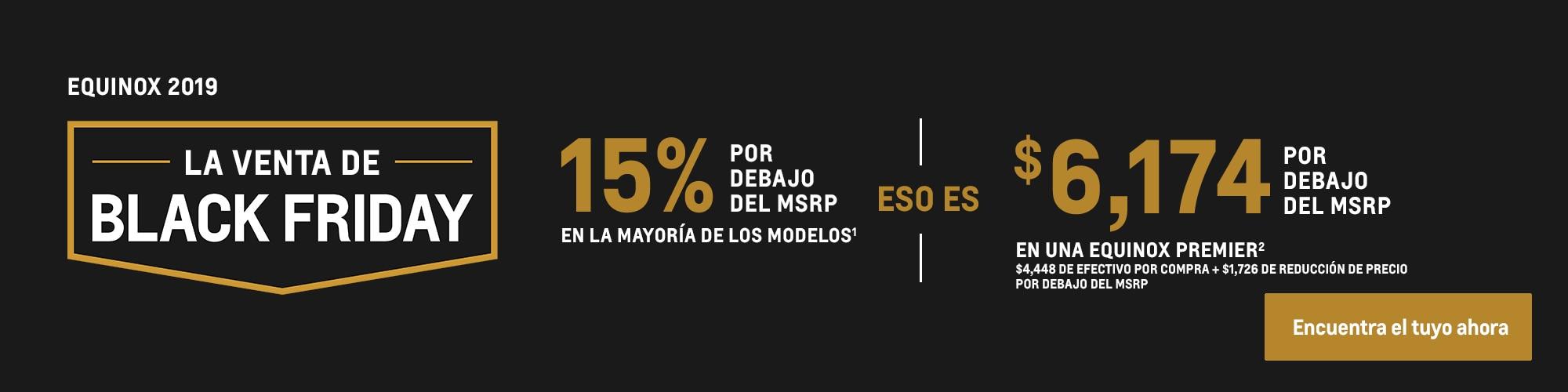 Equinox 2020: 15% por debajo del MSRP