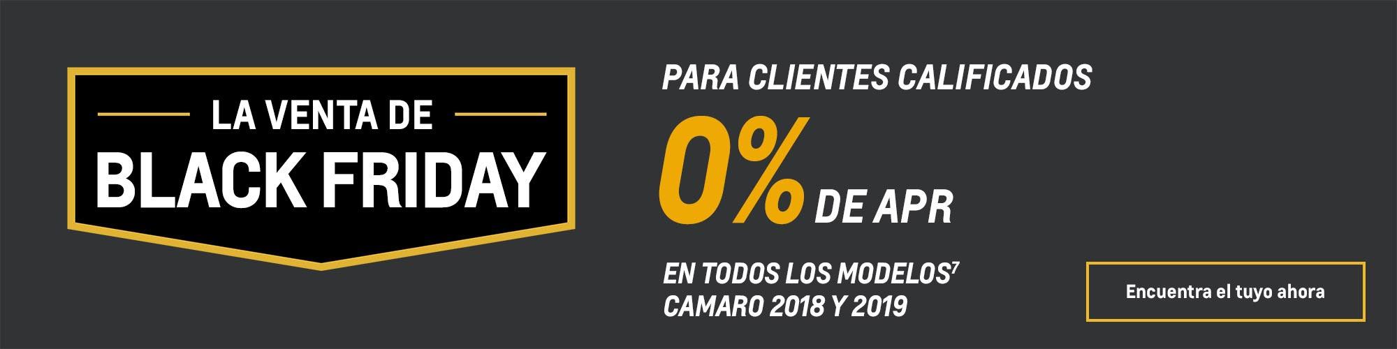 Ofertas Black Friday de Chevy: Camaro: 0% de APR