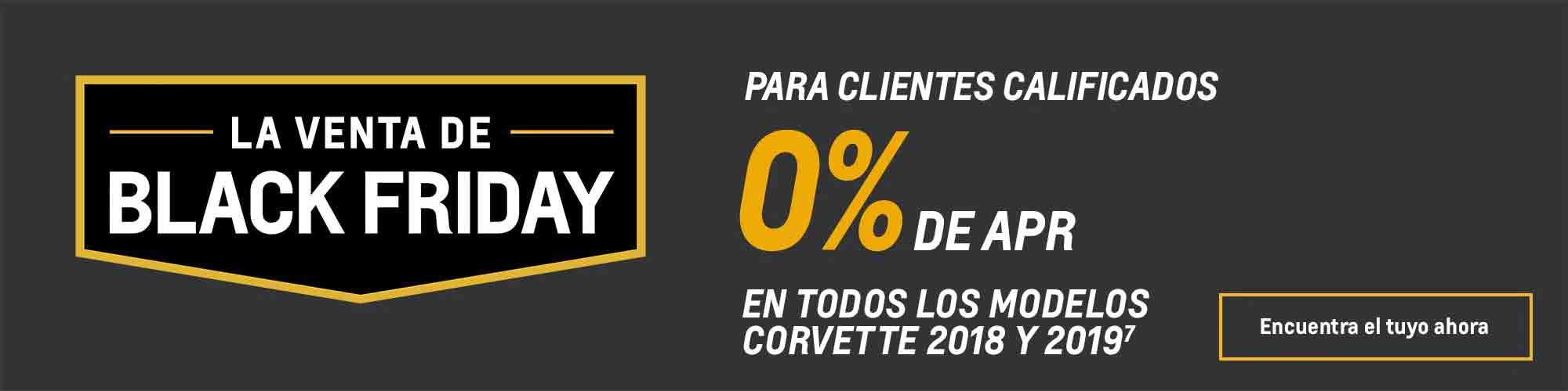 Ofertas Black Friday de Chevy: Corvette: 0% de APR