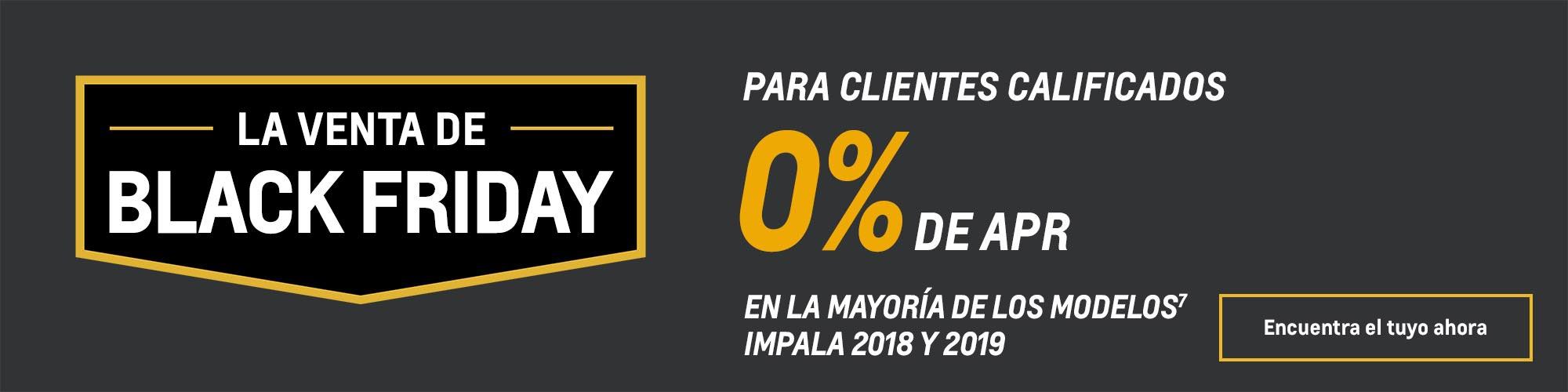 Ofertas Black Friday de Chevy: Impala: 0% de APR
