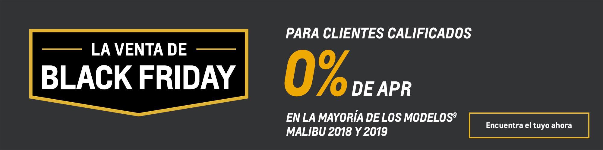 Ofertas Black Friday de Chevy: Malibu: 0% de APR