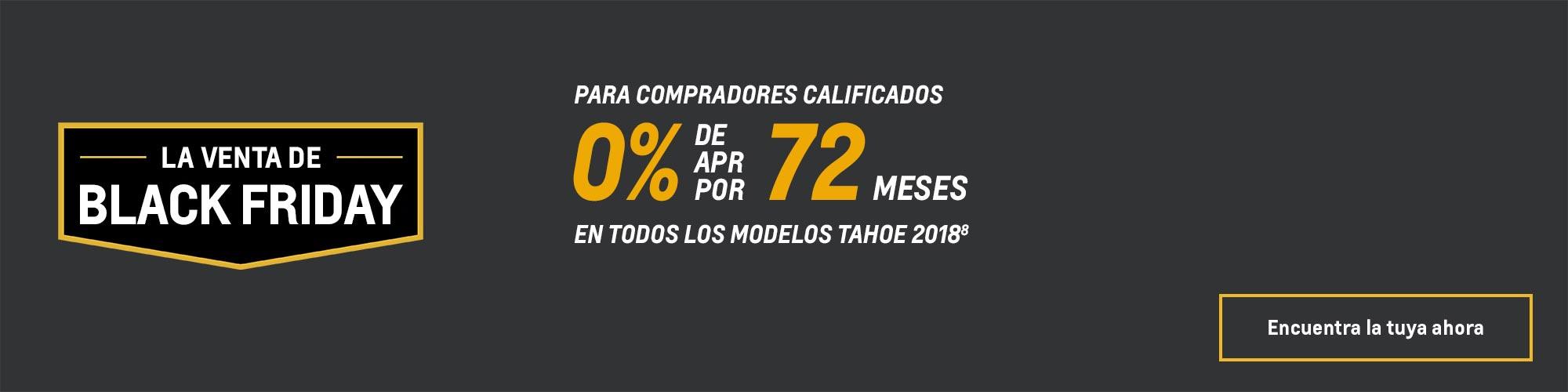 Ofertas Black Friday de Chevy: Tahoe 2018: 0% de APR