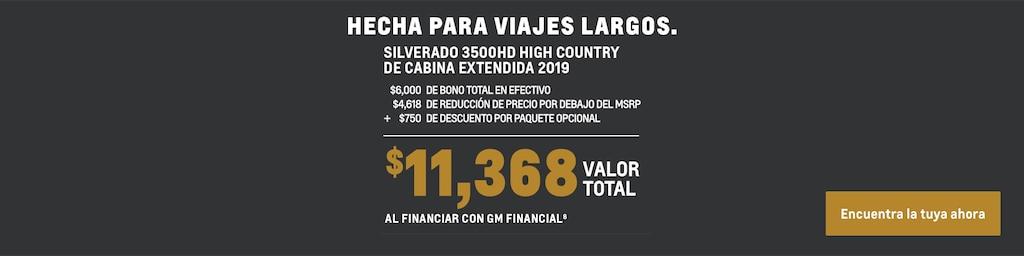 Silverado 3500HD 2019: Valor total de $11,368