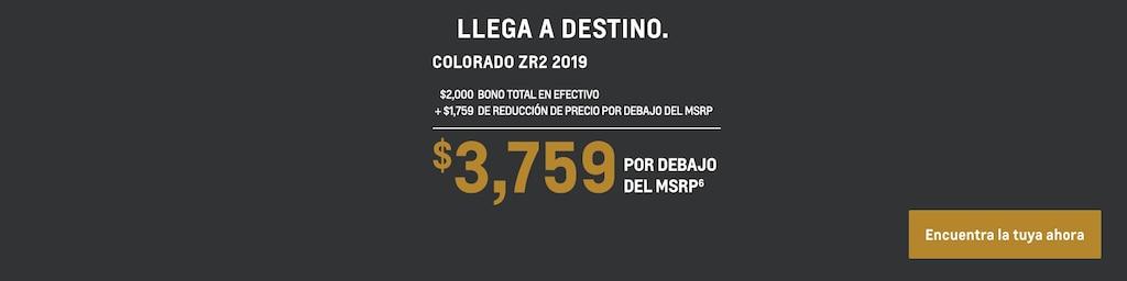 Colorado 2019: $3,759 Por debajo del MSRP